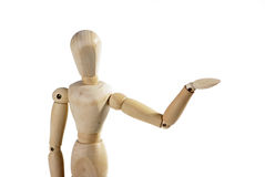 Puppet person. Isolated on a white background Royalty Free Stock Photo