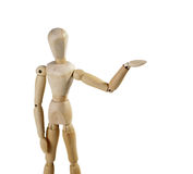 Puppet person. Isolated on a white background Stock Photography