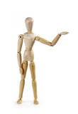 Puppet person. Isolated on a white background Royalty Free Stock Photography