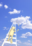 Puppet, rising in the sky Royalty Free Stock Photography