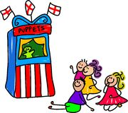 Puppet show royalty free illustration