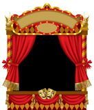 Puppet show booth Stock Photo