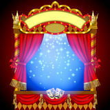 Puppet show booth Royalty Free Stock Photography