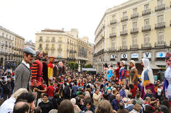 Puppet show in Madrid Royalty Free Stock Image