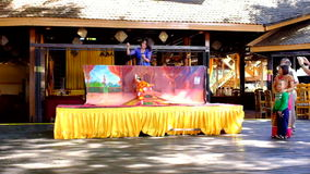 Puppet show in Myanmar stock footage