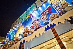 Puppet show by night in Madrid Royalty Free Stock Photography