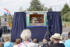 Puppet show at street theater festival in Doetinchem, The Nether Royalty Free Stock Images