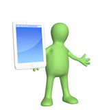 Puppet with smart phone Royalty Free Stock Photos
