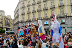 Free Puppet Street Show In Madrid Stock Images - 29813194