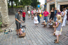 Puppet theater 2. Puppet theater on the street, Tallinn, Estonia Royalty Free Stock Photo