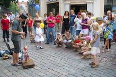 Puppet theater. On the street, Tallinn, Estonia Stock Images