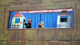 Puppet theater for events Stock Photo