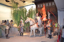 Puppet wax museum. In china,show about Chinese history Royalty Free Stock Photography