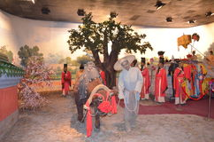 Puppet wax museum. In china,show about Chinese history Stock Photo