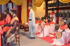Puppet wax museum. In china,show about Chinese history Royalty Free Stock Photos