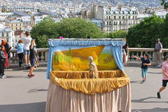 Puppetry of Noah's ark on Montmartre. Paris. Stock Photos