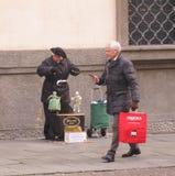 Puppetry veneciano Foto de archivo libre de regalías