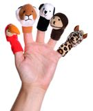 Puppets. Little toys for make theater for the children Stock Photography