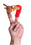Puppets. Little toys for make theater for the children Royalty Free Stock Photography