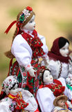 Puppets. Artifacts: romanian dolls dressed in national costume Stock Image