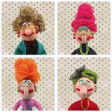 Puppets. Avatars. Set of characters.  Doll's faces Royalty Free Stock Photography
