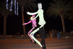 Puppets and Christmas decorations in the town of Nerja Spain Royalty Free Stock Image