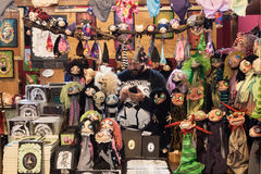 Puppets on display at Festival del Fumetto convention in Milan, Italy Stock Images