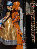 Puppets and marionettes of Rajput princes. In Udaipur marketplace, Rajasthan, India, Asia Royalty Free Stock Images