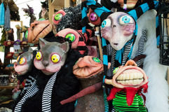 Puppets market at lucca comics 2016 Royalty Free Stock Photo