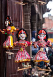 Puppets at Nepal market Stock Image