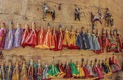 Puppets. In jaisalmer royalty free stock photo