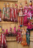 Puppets in Rajasthan. Puppets for sale in Jaisalmer,  Rajasthan,  India Royalty Free Stock Photos