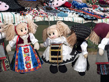 Puppets. Some puppets like decoration, expose for sell Royalty Free Stock Photo
