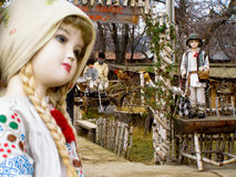 Puppets story romanian traditional Royalty Free Stock Photo