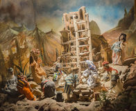 Puppets theme Tower of Babel. Haifa ISRAEL - March 9, 2015: Puppet Museum in the center of the arts in Haifa Castra on March 9, 2015 in Israel Royalty Free Stock Photos