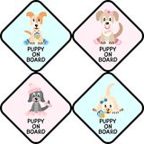 Puppies on board sign Stock Image