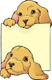 Puppies bookplate Royalty Free Stock Photography