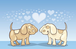 Puppies in love Royalty Free Stock Photo