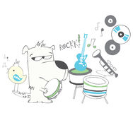 Puppies rock band Royalty Free Stock Photo