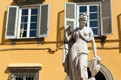 Pupporona Statue in Lucca Italy Stock Photo