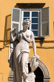 Pupporona Statue in Lucca Italy Stock Photography