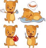 Puppy. Illustration of little dog lifestyle Royalty Free Stock Photos