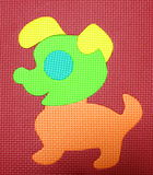 Puppy. Funny puppy colorful texture foam Stock Photos