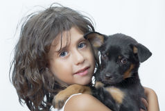 With puppy Royalty Free Stock Images