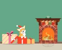 Puppy als gift Royalty-vrije Stock Afbeelding