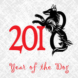Puppy animal tattoo of Chinese New Year of the Dog grunge vector file organized in layers for easy editing. Puppy animal tattoo of Chinese New Year of the Dog vector illustration