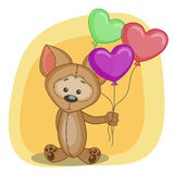 Puppy with baloons Royalty Free Stock Image