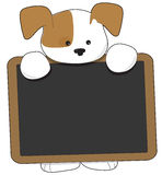 Puppy Blackboard Royalty Free Stock Image
