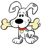 Puppy with Bone Stock Photos