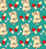 Puppy cute rest sleep relax seamless pattern. Royalty Free Stock Photography
